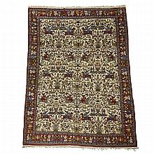 Ispahan Pictorial Carpet, Persian,  early to middle 20th century, 10'10