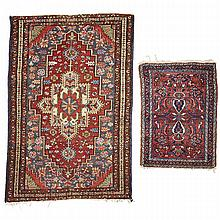 Two Hamadan Mats, both Persian, both middle 20th century, 2'8