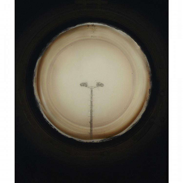 APRIL HICKOX, PORTHOLES (LAMP AND STACKS), chromogenic prints, 24 ins x 20 ins; 61 cms x 50.8 cms