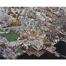 EDWARD BURTYNSKY, ROCK OF AGES #24, ABANDONED SECTION, ROCK OF AGES QUARRY, BARRE, VERMONT, 1991, chromogenic colour print, sight 18 ins x 22 ins; 45.7 cms x 55.9 cms