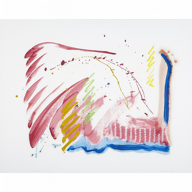 ROBERT HOULE, COMPOSITION II, 1987, mixed media on paper, 32 ins x 39.5 ins; 81.3 cms x 100.3 cms
