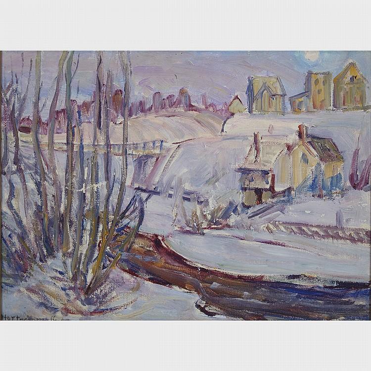 HORTENSE CROMPTON MATTICE GORDON, R.C.A., BURK FALLS #2, oil on canvas board, 9.5 ins x 13 ins; 24.8 cms x 33 cms