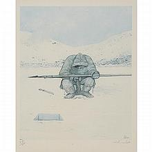 William Kurelek (1927-1977), FOUR INUIT SCENES OF LIFE, Four half-tone colour lithographs; each signed with initials and dated 75 in the plates, each signed and numbered 277/300 in pencil to margin, Sheet sight 13.25