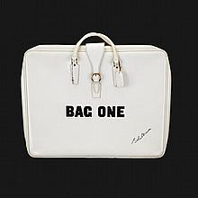 John Lennon (1940-1980), BAG ONE (THE SET OF 13 LITHOGRAPHS), 1970, Thirteen lithographs and two forwarding pages; each signed and numbered 140/300 in pencil. Contained in a white vinyl carrying case, with zip fastening and handles, printed Bag One