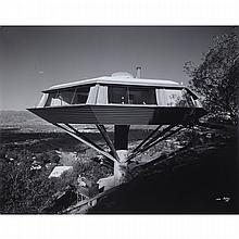 Julius Schulman (1910-2009), MALIN ('CHEMOSPHERE' HOUSE) RESIDENCE, DESIGNED BY JOHN LAUTNER, LOS ANGELES, CALIFORNIA, 1961, Gelatin silver print; signed and dated in white ink lower right. Unframed., 24