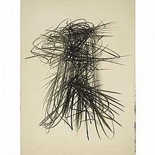 Hans Hartung (1904-1989), COMPOSITION 1957, Lithograph; signed and numbered 28/75 in pencil. Published  by St. Gallen-Erder Press., Sheet 29.75