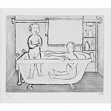 Louise Bourgeois (1911-2010), CHILDREN IN TUB (FROM AUTOBIOGRAPHICAL SERIES), 1994, Drypoint and aquatint signed with initials and numbered 24/35 in pencil to margin. Published by Peter Blum Edition., Plate 4.1