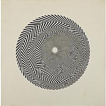 Bridget Riley (1931- ), UNTITLED (BASED ON BLAZE), 1964 [SCHUBERT 4], Screenprint on smooth paper; signed, dated '64 and numbered 1/50 in pencil