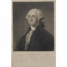 After Gilbert Stuart (1755-1928), GEO. WASHINGTON ESQ.R., LATE PRESIDENT OF THE UNITED STATES, Stipple engraving by William Nutter (1754-1802). Published by R. Cribb Holburn, London on January 15, 1798.
