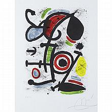 Joan Miro (1893-1983), QUERELLE D'AMOUREUX II (PL. 10 FROM ALLEGRO VIVACE), 1981 [MOURLOT, 1234], Colour lithograph; signed and numbered 23/100 in pencil to margin. Published by Daniel Lelong., 26