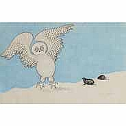 GERMAINE ARNAKTAUYOK (1946-), E5-472, Igloolik OWL