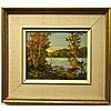 WILF FRANK GRIFFITHS (CANADIAN, 1917-2000), LAKE IN MUSKOKA, OIL ON MASONITE; SIGNED LOWER LEFT; SIGNED AND TITLED VERSO - Inventory #3601, 8