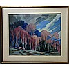 JAMES (JIM) A. BIRNIE (CANADIAN, 20TH CENTURY), EARLY SPRING - MADAWASKA, OIL ON BOARD; SIGNED LOWER LEFT; SIGNED AND TITLED VERSO AND TO GALLERY LABEL, 20