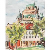 UMBERTO BRUNI QUEBEC CITY, oil and ink on board;