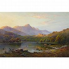 Alfred Fontville de Breanski (1877-1955), EVENING RYDAL WATER, Oil on canvas; signed lower right, signed and titled verso, 28