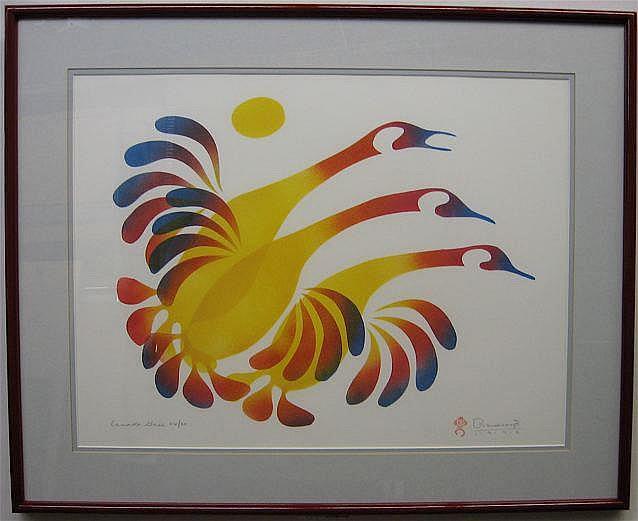 SIMON BRASCOUPE (1948-) CANADIAN CANADA GEESE;