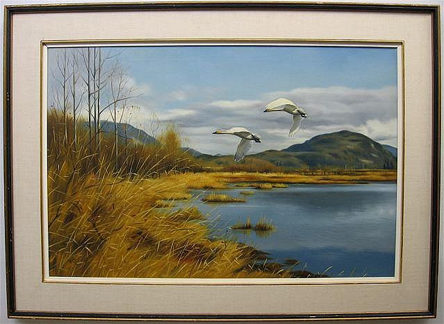 NORMAN KELLY (1939-) CANADIAN AFTERNOON FLIGHT -