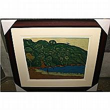 JAMES W. MORRICE (CANADIAN, 1865-1924), LANDSCAPE, TRINIDAD, HAND PULLED SILKSCREEN - LIMITED EDITION OF 100, PULBLISHED BY THE NATIONAL GALLERY OF CANADA (Image, 21