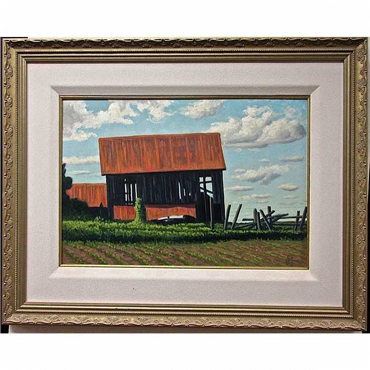 NORMAN R. BROWN (CANADIAN, 1958-), WINCHESTER, OIL ON PANEL; INITIALED LOWER RIGHT; SIGNED, TITLED AND DATED '98 VERSO, 16