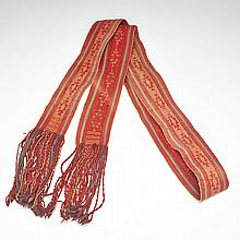 Hopi Indian Ceremonial Sash, 19th century, length 104