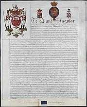 Royal Letters Patent Grant of Arms to Knight Companion of the Most Honourable Military Order of the Bath to Sir Isaac Brock, January 16th, 1813, 23.5