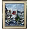 ANDRE BESSE (CANADIAN, 1922-), IMPASSE VIEUX QUEBEC, CANADA, OIL ON CANVAS; SIGNED LOWER LEFT; SIGNED, TITLED AND DATED '79 VERSO, 24