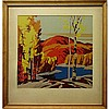 "ALFRED JOSEPH CASSON (CANADIAN, 1898-1992), LAKE IN AUTUMN, SILKSCREEN ON CARD; SIGNED IN IMAGE LOWER LEFT (Sight, 14.8"" x 15""), Alfred Joseph Casson, CAD0"