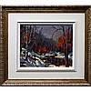 GERARD BOULANGER (CANADIAN, 20TH CENTURY), UNTITLED (CHANGING SEASONS), OIL ON CANVAS; SIGNED LOWER RIGHT; SIGNED VERSO, 10