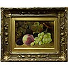 FRANK CHAPLIN (BRITISH, 19TH CENTURY), STILL LIFE - FRUIT, OIL ON ARTIST BOARD; SIGNED AND DATED 1878 LOWER LEFT, 7