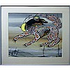 """JOHN ERIC LAFORD (INDIGENOUS CANADIAN, 1954-), UNTITLED (WOLF), ACRYLIC ON CANVAS BOARD; SIGNED AND DATED /84 LOWER RIGHT (Sight, 17"""" x 21""""), John Eric Laford, CAD0"""