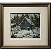 WILF FRANK GRIFFITHS (CANADIAN, 1917-2000), OLD CABIN IN HALIBURTON, OIL ON MASONITE; SIGNED LOWER RIGHT; SIGNED AND TITLED VERSO - Inventory number 5044, 10