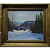 FRANK E. CAVELL (CANADIAN, 1909-1980), WINTER HILL, OIL ON MASONITE; SIGNED FRANCIS E. CAVELL LOWER RIGHT; SIGNED, TITLED AND DATED 1940 TO SMALL LABEL VERSO - Inventory #438, 10