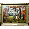 FREDERICK STANLEY HAINES (CANADIAN, 1879-1960), BIRCH - HALIBURTON (BETWEEN HALIBURTON AND WILBERFORCE), OIL ON MASONITE; SIGNED LOWER RIGHT; TITLED VERSO AND TO FRONT PLAQUE, 20