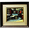 JAMES (JIM) A. BIRNIE (CANADIAN, 20TH CENTURY), REAR VIEW - MAJOR ST. NEAR HARBORD, OIL ON MASONITE; SIGNED LOWER LEFT; TITLED TO ARTIST AND GALLERY LABELS VERSO, 10