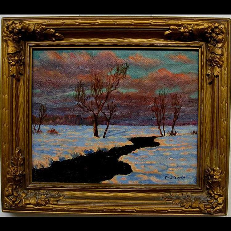 NARCISSE POIRIER (1883-1983) CANADIAN RIVIERE