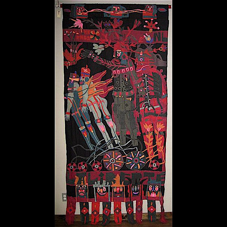 NORMAN LALIBERTE (1925-) CANADIAN HERMES; CLOTH