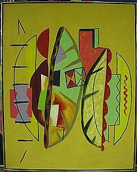 ERIK GAMBLE (CANADIAN, 1950-2007) OLIGARY; ACRYLIC