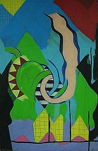 ERIK GAMBLE (CANADIAN, 1950-2007) PHOENIX; ACRYLIC