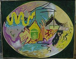 ERIK GAMBLE (CANADIAN, 1950-2007) ELIPSE; ACRYLIC