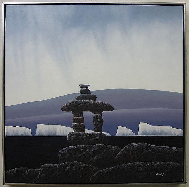 KENNETH MICHAEL KIRKBY (CANADIAN, 1940-) INUKSHUK;