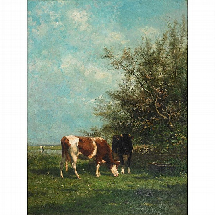 Jan Vrolijk (1846-1894), Dutch. PASTURES