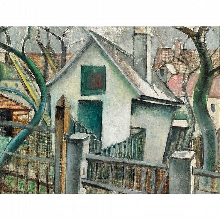 Anita Ree (1885-1933), German. DORFANSICHT/WINTERLANDSCHAFT