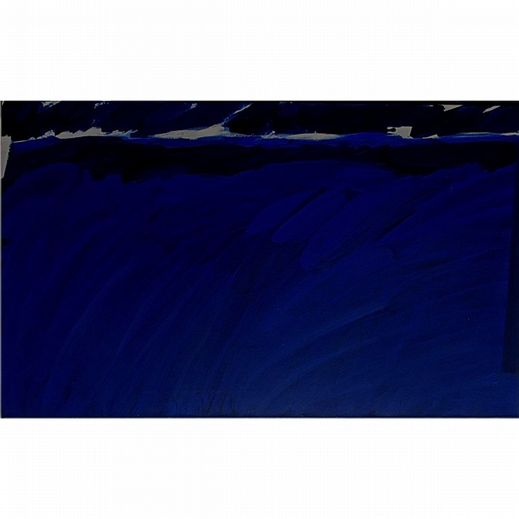 GRAHAM CANTIENI (CANADIAN, 1938-), UNTITLED (BLUE NIGHT), ACRYLIC ON CANVAS; SIGNED AND DATED 1991, 9 VERSO - UNFRAMED, STRETCHER ONLY, 28