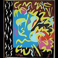 ERIK GAMBLE (CANADIAN, 1950-) BOOK OF RULES; OIL
