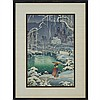 Tsuchiya Koitsu (1870 - 1949), 土屋光逸SPRING SNOW, KYOTO MARUYAMA春の雪 京都円山, 5.75
