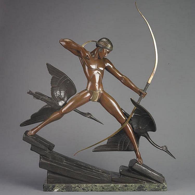 Marcel Bouraine (1886-1948) ARCHER, bronze, 38