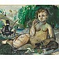 Philippe Henri Noyer (1917-1985), YOUNG NUDE BATHING IN A PARKLAND, Watercolour; signed and dated 45 lower right, 21