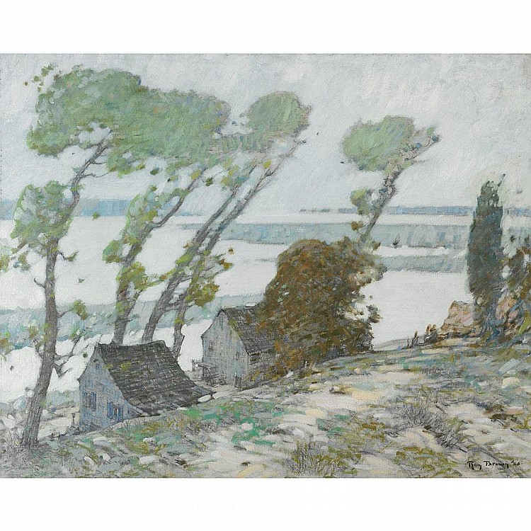 Roy H. Brown (1879-1956), OYSTER BAY, LONG ISLAND, Oil on canvas; signed and dated '26 lower right, signed and titled verso, 32.25