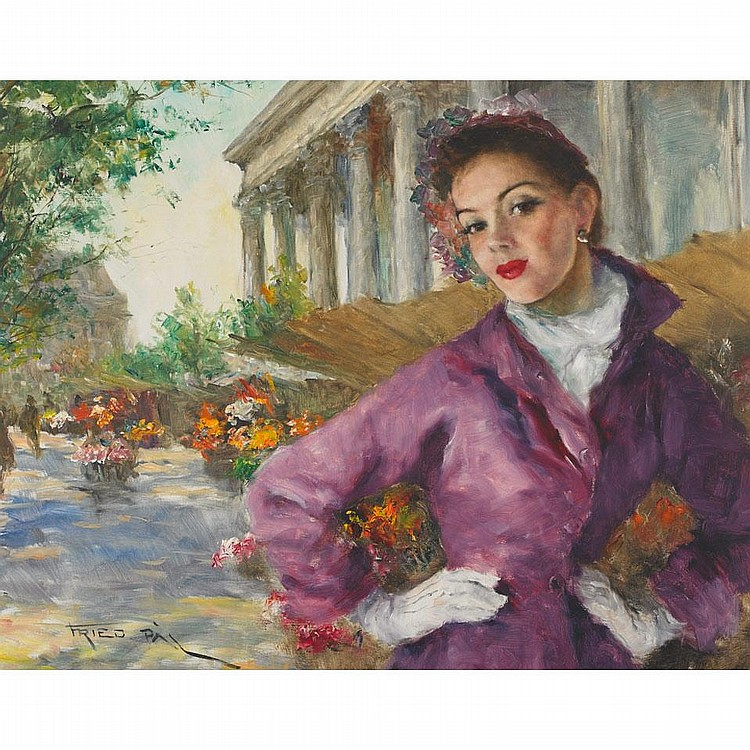 Pal Fried (1893-1976), YVETTE, Oil on canvas; signed lower left, titled verso, 24