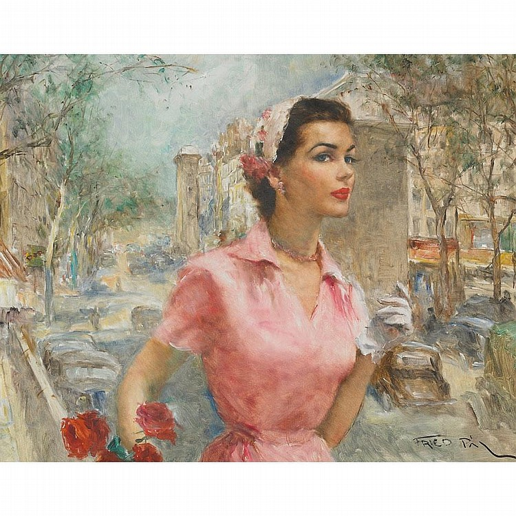 Pal Fried (1893-1976), ANNABELLA, Oil on canvas; signed lower right, titled verso, 24